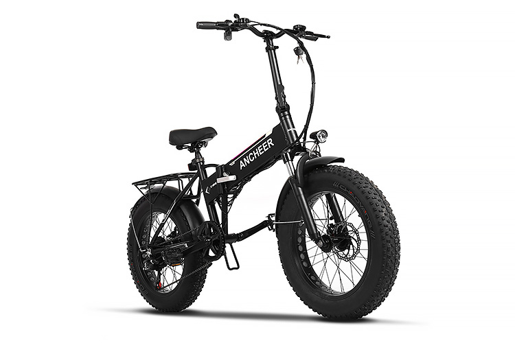 Ancheer Folding Electric Bike With 20 Inch Fat Tires