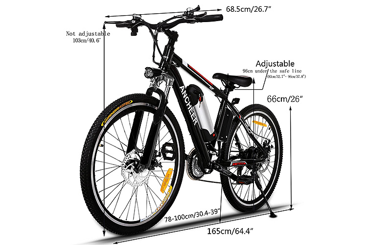 ancheer power plus electric mountain bike with removable