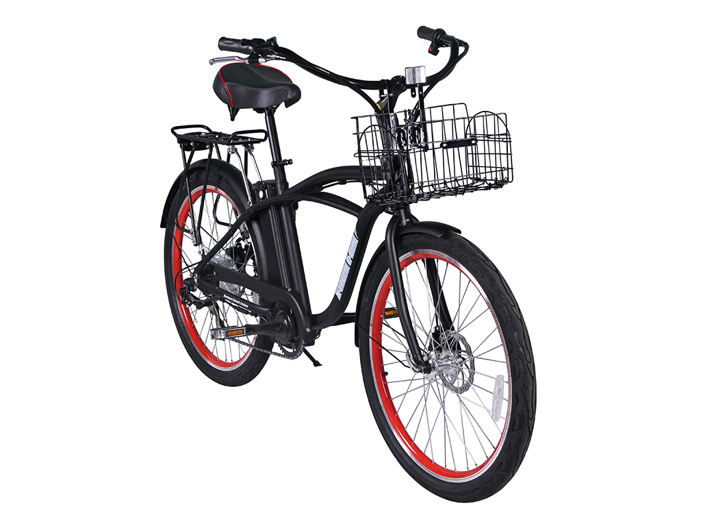Newport Black Right Angle on electric powered bicycles