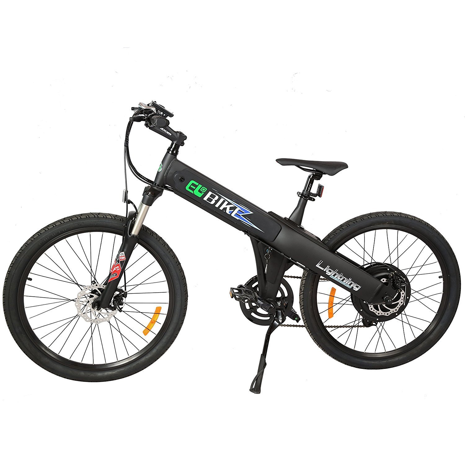 e go electric bike matt black electric bicycle mountain 500w gearscoot. Black Bedroom Furniture Sets. Home Design Ideas