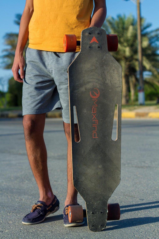 Maxfind MaxB Electric Skateboard with Dual Hub Motor  GearScoot