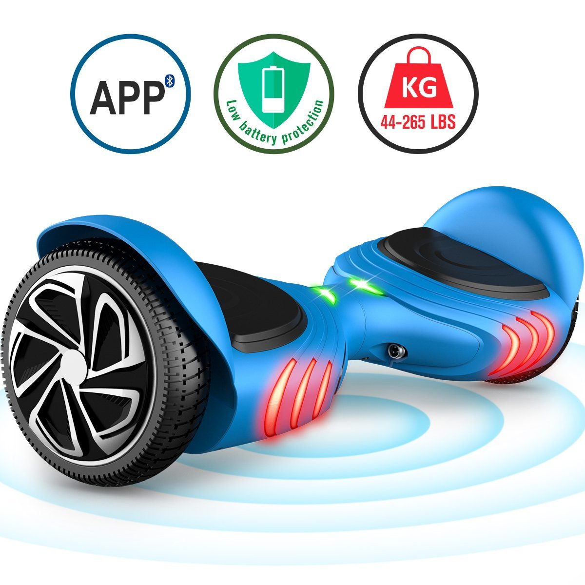 Tomoloo Hoverboard With Bluetooth Speaker And Lights 8