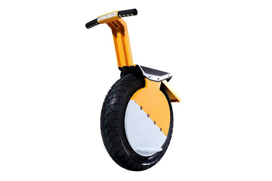 Yellow Self Balancing Electric Seated Unicycle With