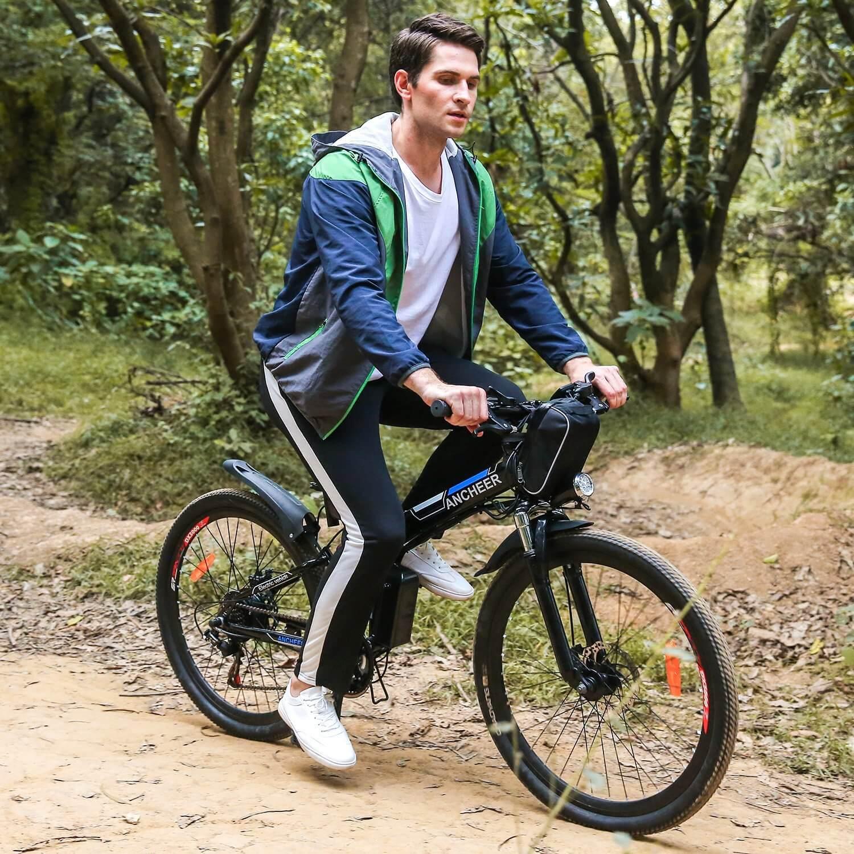 Ancheer Folding Electric Mountain Bike With 26 Inch Wheel