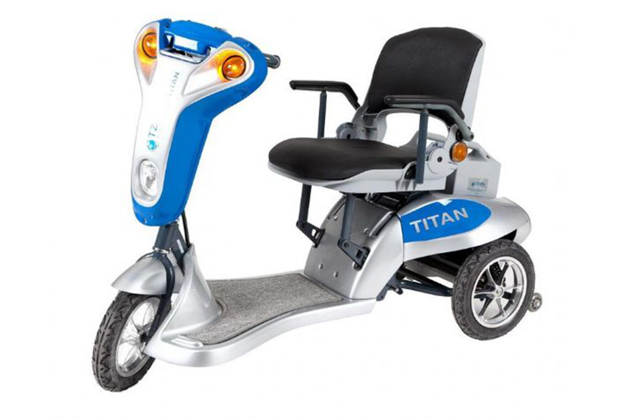 Tzora Titan Folding 3 Wheel Lightweight Electric