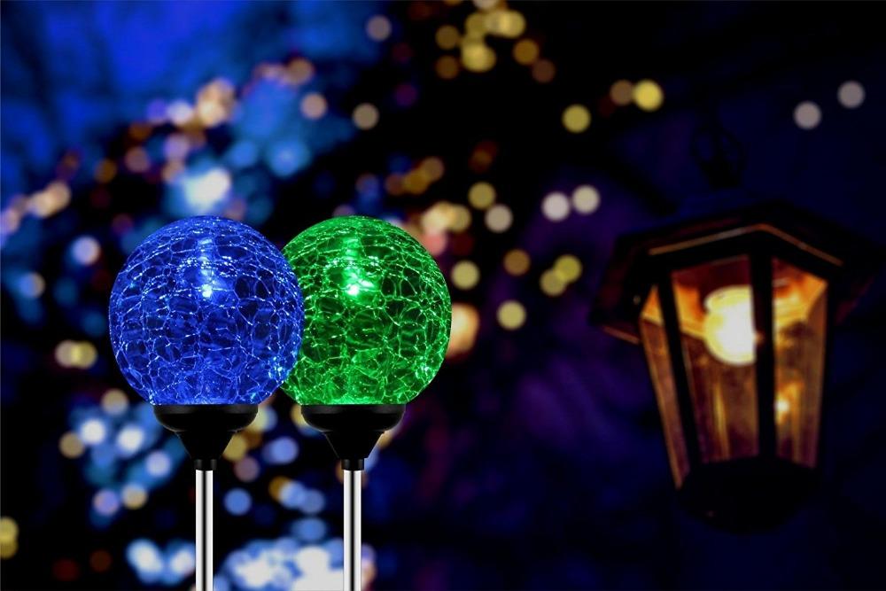 2pcsbox solar garden stake lights outdoor lighting cracked crystal 2pcsbox solar garden stake lights outdoor workwithnaturefo