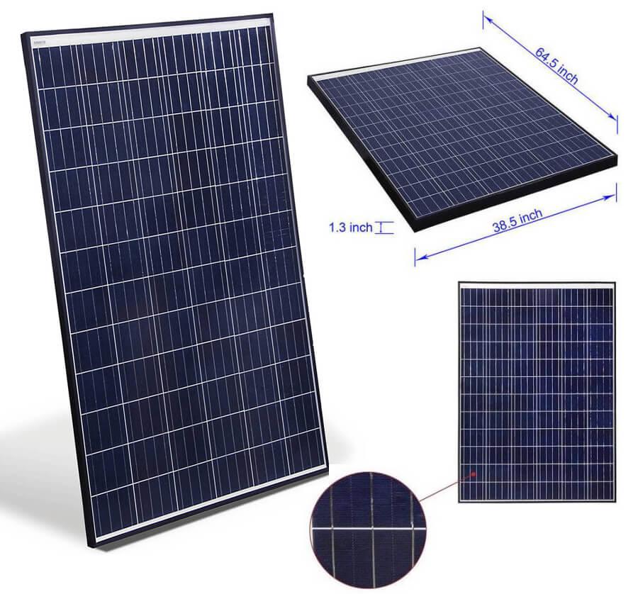 Aleko Etl Polycrystalline Modules Solar Panel Gearscoot
