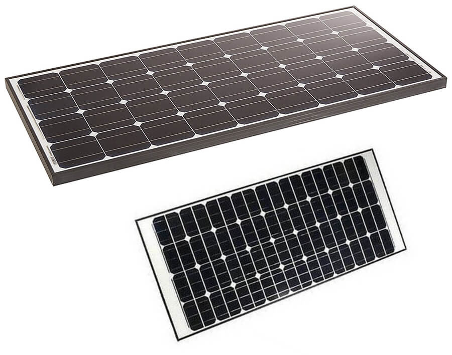 Aleko Solar Panel Monocrystalline 125w For Any Dc 12v