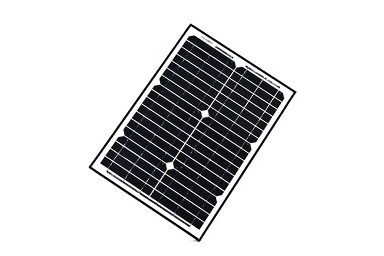 Aleko Solar Panel Monocrystalline 20w For Any Dc 12v