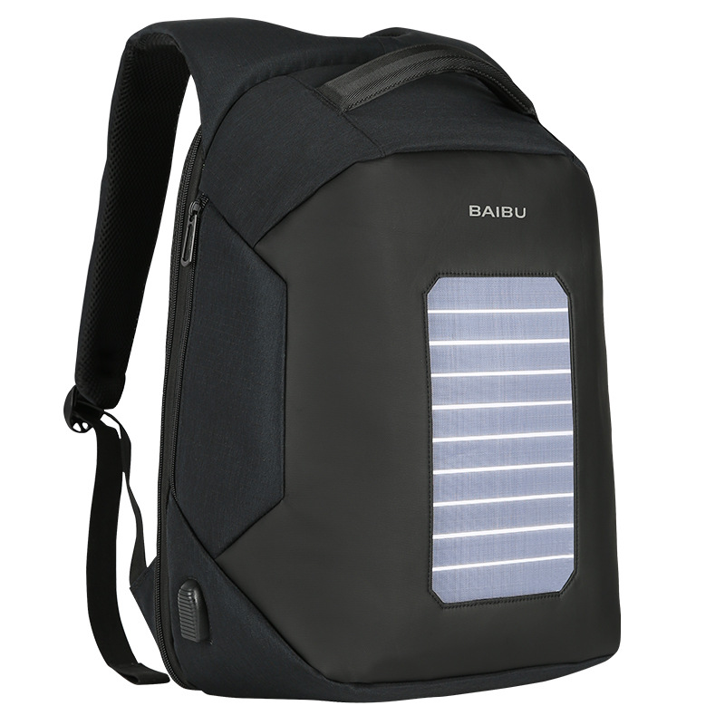 Baibu Fashion Men Backpacks Solar Charging Anti Theft