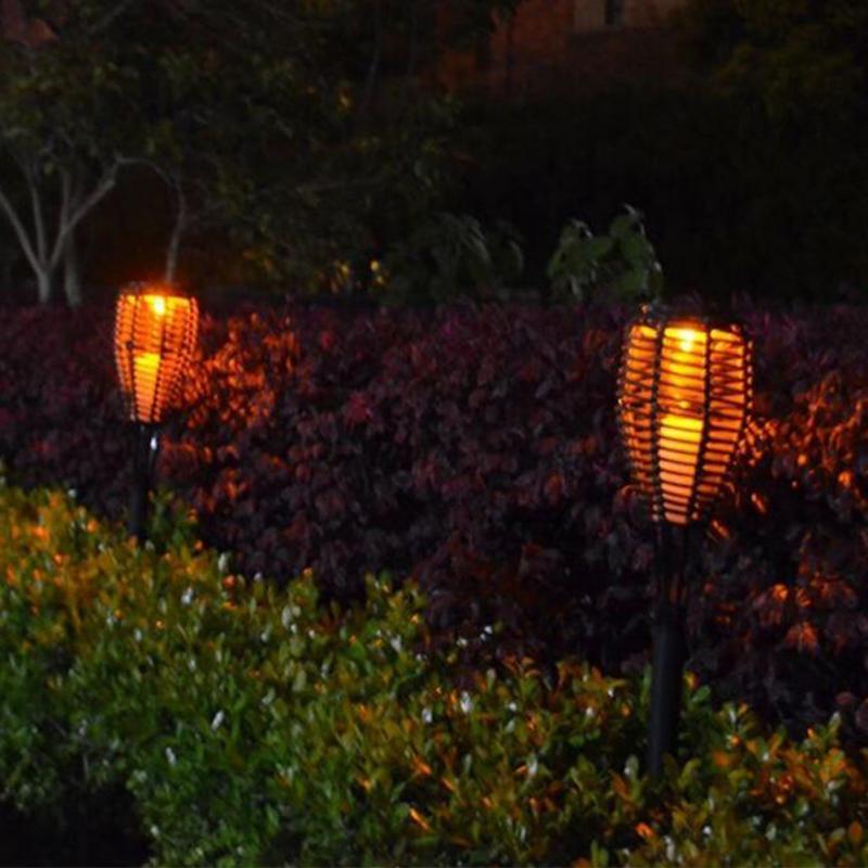Outdoor waterproof led solar garden torch lights landscape stake outdoor waterproof led solar garden torch lights workwithnaturefo