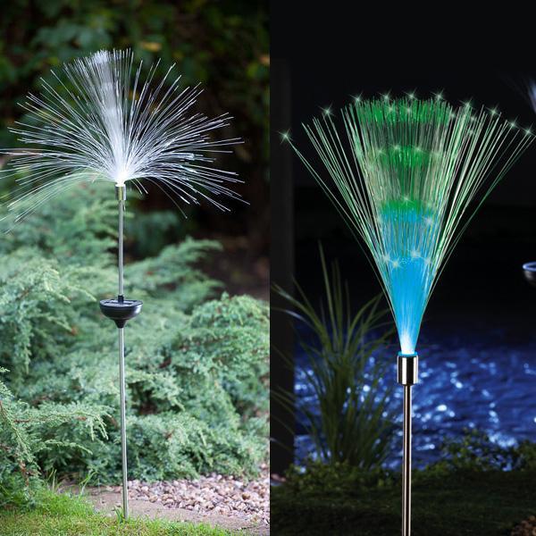 Solar Fiber Optic Color Changing Garden ...