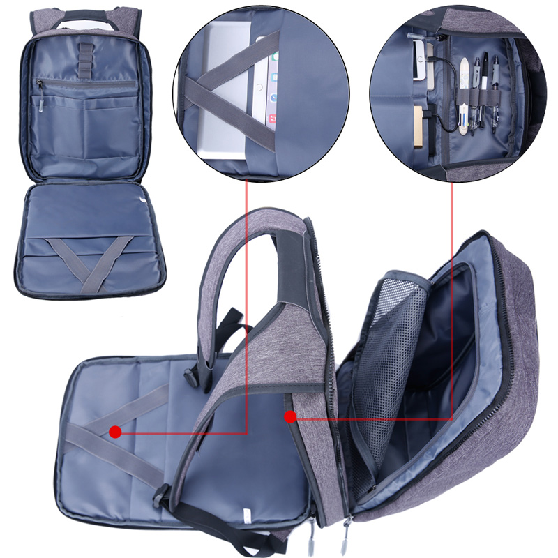 XQXA Large Smart Anti Theft Business Laptop Backpacks for ...