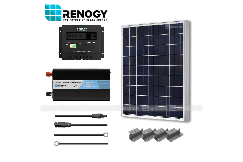 100 Watt Solar Panel System 100w Watts Poly Inverter Off