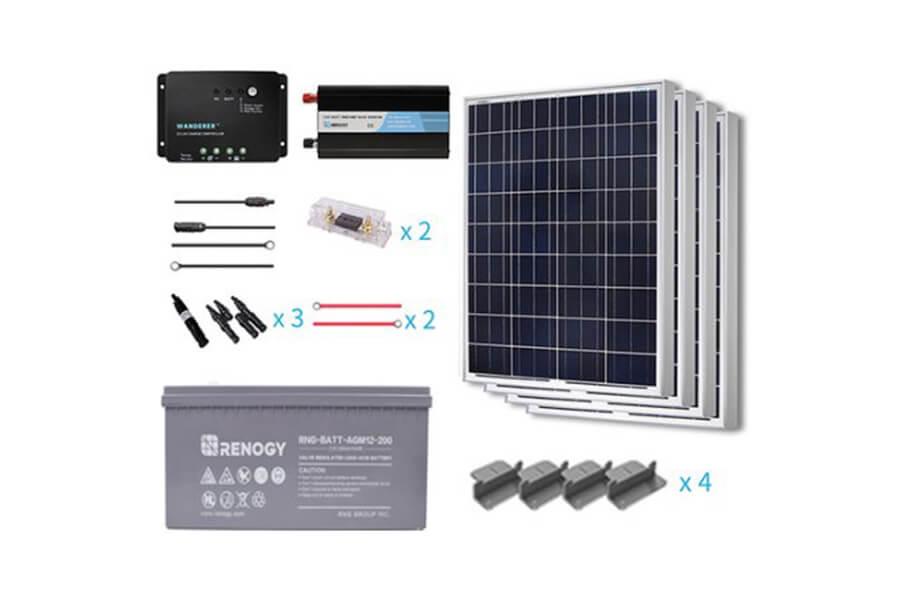 Renogy 400 Watt 12 Volt Poly solar panel Starter Complete