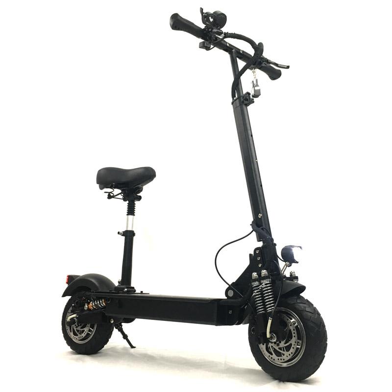 FLJ Foldable Electric Scooter with seat for adults, 2400W