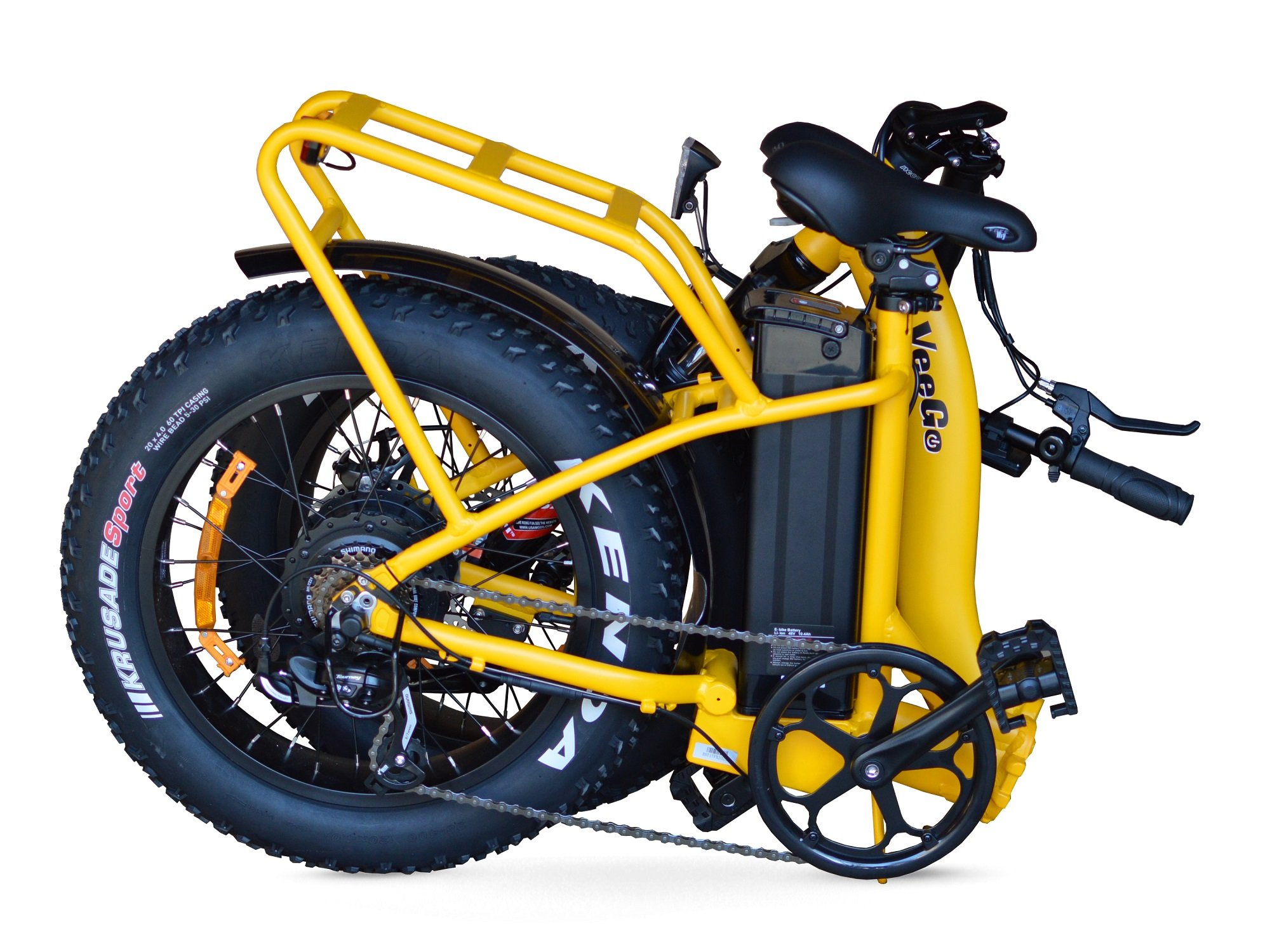 VeeGo Folding Fat Tire Electric Bicycle | GearScoot