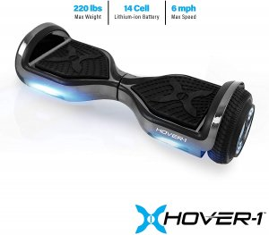 hover-1 chrome hoverboard gun metal