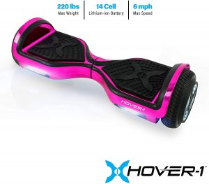 hover-1 chrome hoverboard pink