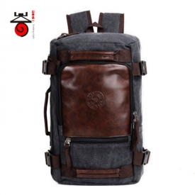 6d30aa7b008b Senkey style 2017 Fashion Large Capacity Rucksack Men s Canvas Backpack  MULTIFUNCTION Leisure Travel Men s Laptop Backpacks